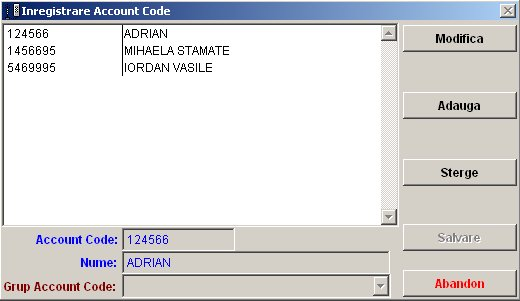 office teltax meniu inregistrare account code